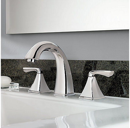 Polished Chrome Selia Widespread Bath Faucet - LF-049-SLCC - 2