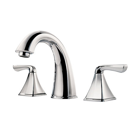 polished chrome selia widespread bath faucet - f-049-slcc - 1