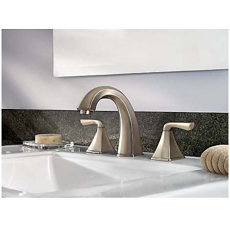 Brushed Nickel Selia Widespread Bath Faucet - F-049-SLKK - 2