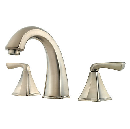 Brushed Nickel Selia Widespread Bath Faucet - F-049-SLKK - 1