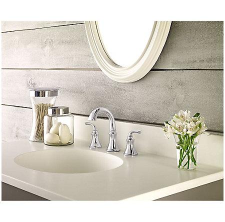 Polished Chrome Solita Widespread Bath Faucet - LF-049-SOCC - 2
