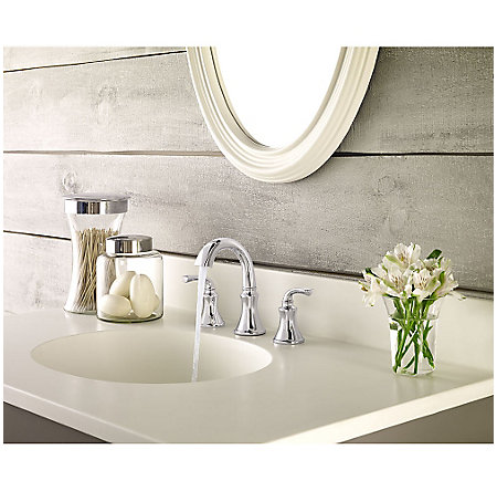 Polished Chrome Solita Widespread Bath Faucet - LF-049-SOCC - 3