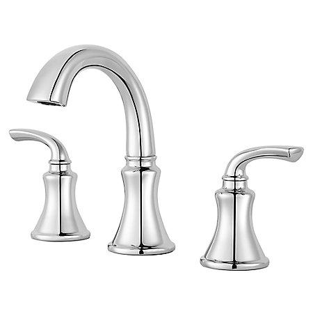Polished Chrome Solita Widespread Bath Faucet - LF-049-SOCC - 1