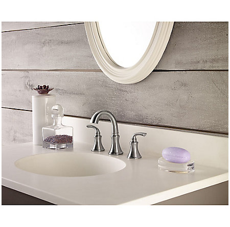 Brushed Nickel Solita Widespread Bath Faucet - F-049-SOKK - 2