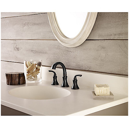 Tuscan Bronze Solita Widespread Bath Faucet - LF-049-SOYY - 2