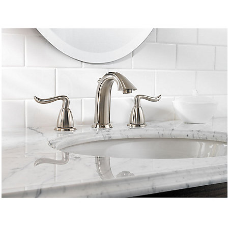 brushed nickel santiago widespread bath faucet - f-049-st0k - 4