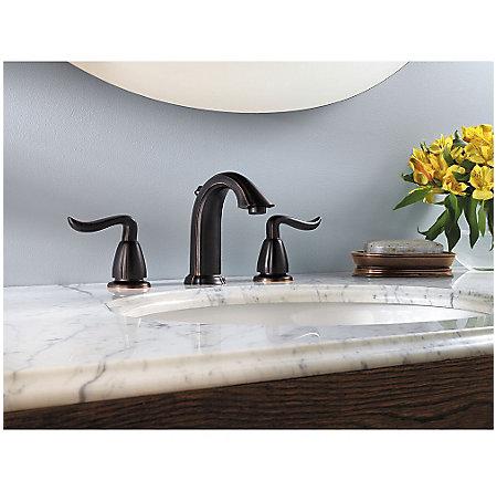 Tuscan Bronze Santiago Widespread Bath Faucet - LF-049-ST0Y - 2