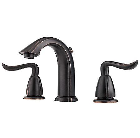 Tuscan Bronze Santiago Widespread Bath Faucet - LF-049-ST0Y - 1