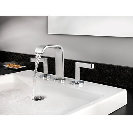 Polished Chrome Skye Widespread Bath Faucet - F-049-SYCC - 2