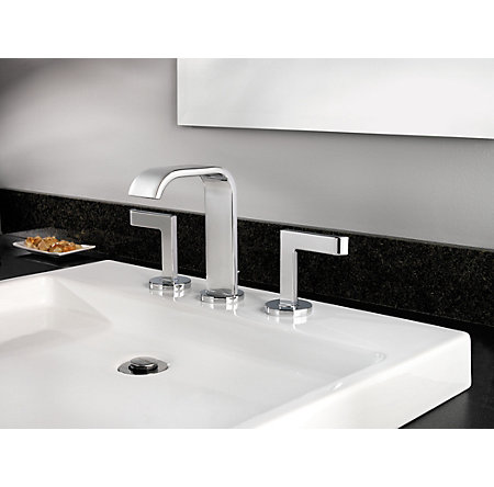 Polished Chrome Skye Widespread Bath Faucet - F-049-SYCC - 3