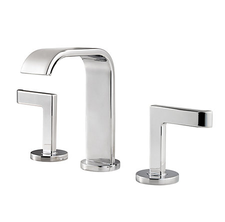 Polished Chrome Skye Widespread Bath Faucet - F-049-SYCC - 1