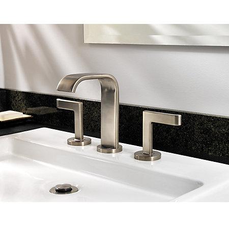 brushed nickel skye widespread bath faucet - f-049-sykk - 2