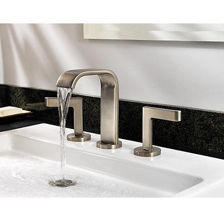 brushed nickel skye widespread bath faucet - f-049-sykk - 3