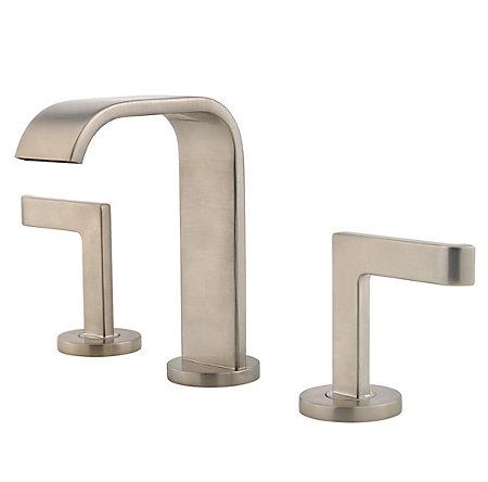 brushed nickel skye widespread bath faucet - f-049-sykk - 1