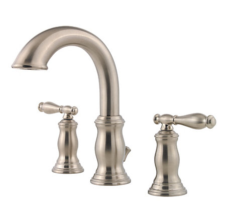 Brushed Nickel Hanover Widespread Bath Faucet - F-049-TMKK - 1
