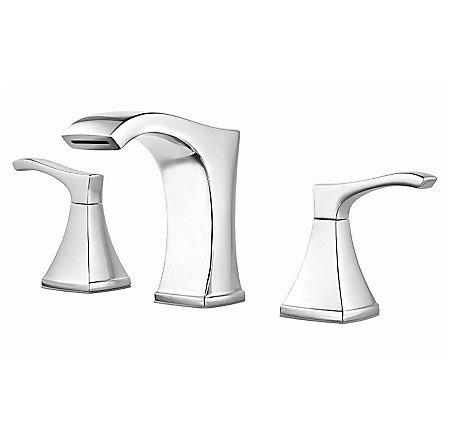 Polished Chrome Venturi Widespread Bath Faucet - F-049-VNCC - 1