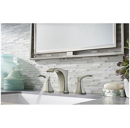 Brushed Nickel Venturi Widespread Bath Faucet - LF-049-VNKK - 3