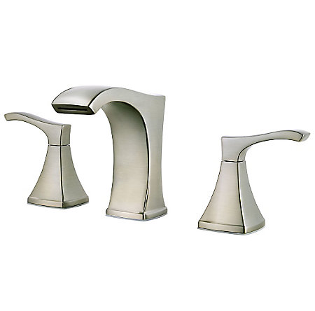 Brushed Nickel Venturi Widespread Bath Faucet - LF-049-VNKK - 1