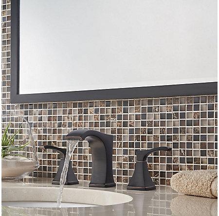 Tuscan Bronze Venturi Widespread Bath Faucet - LF-049-VNYY - 3