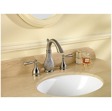 Brushed Nickel Virtue Widespread Bath Faucet - F-049-VTKK - 2