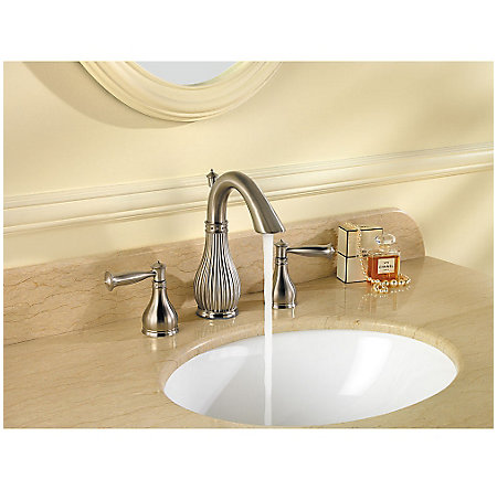 Brushed Nickel Virtue Widespread Bath Faucet - F-049-VTKK - 3