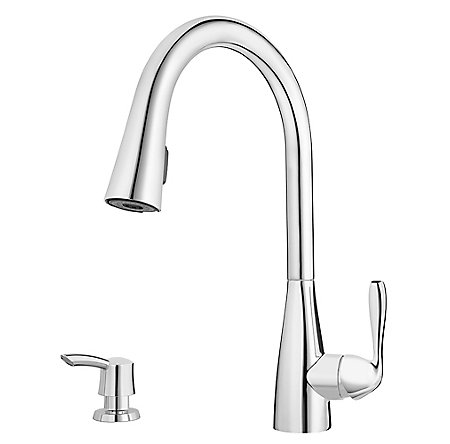 Polished Chrome Lima Pulldown Kitchen Faucet - F-529-6LMC - 1
