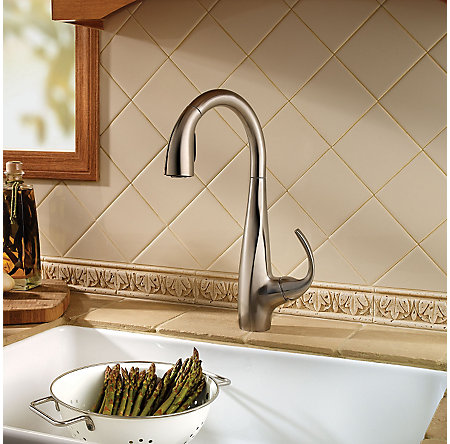 Stainless Steel Avanti 1-Handle, Pull-Down Kitchen Faucet - F-529-7ANS - 2