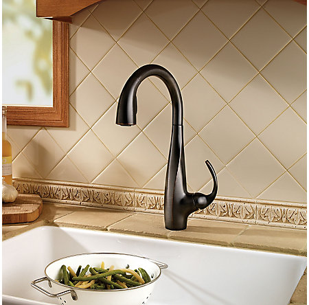 Tuscan Bronze Avanti 1-Handle, Pull-Down Kitchen Faucet - F-529-7ANY - 2