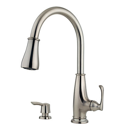 Stainless Steel Ainsley 1-Handle, Pull-Down Kitchen Faucet - LF-529-7AYS - 1