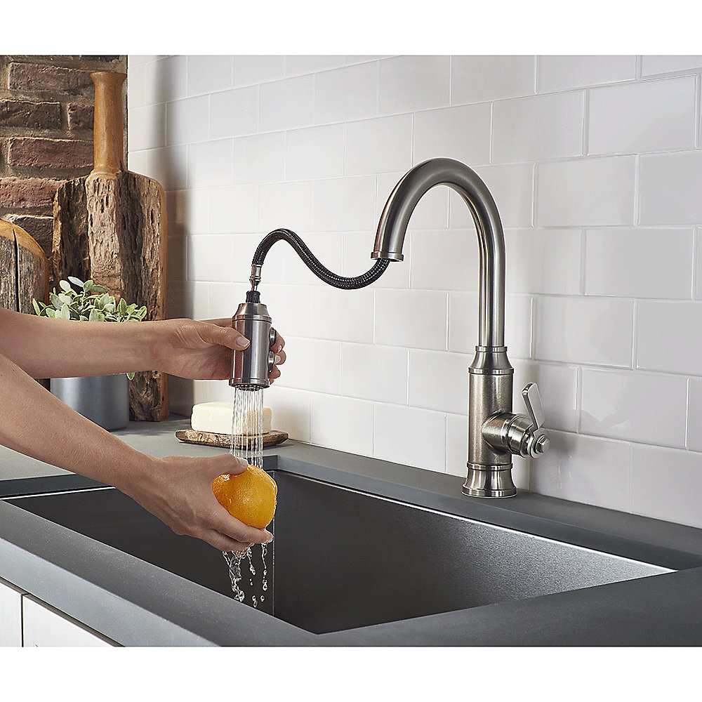Pfister Kitchen Faucet Stainless Steel Breckenridge Pull Down Kitchen Faucet F 529