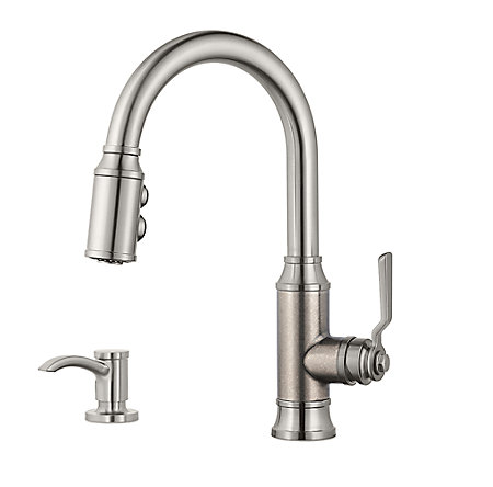 Stainless Steel Breckenridge Pull-Down Kitchen Faucet - F-529-7BCSE - 1