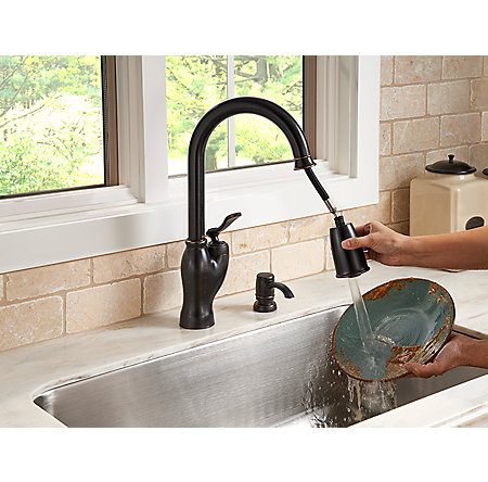 tuscan bronze glenfield pull-down kitchen faucet - f-529-7gfy - 8