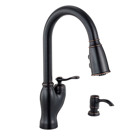 Tuscan Bronze Glenfield Pull-Down Kitchen Faucet - F-529-7GFY - 1
