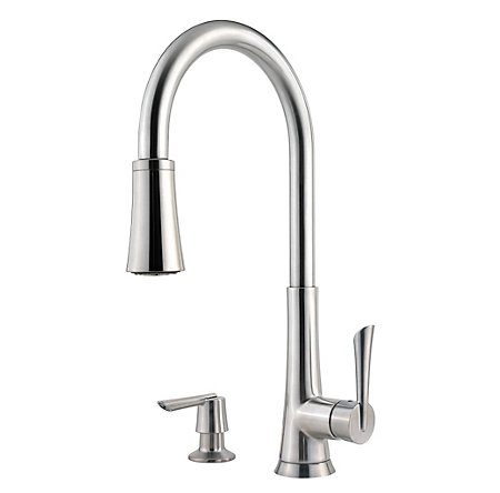 Stainless Steel Mystique 1-Handle, Pull-Down Kitchen Faucet - F-529-7MDS - 1