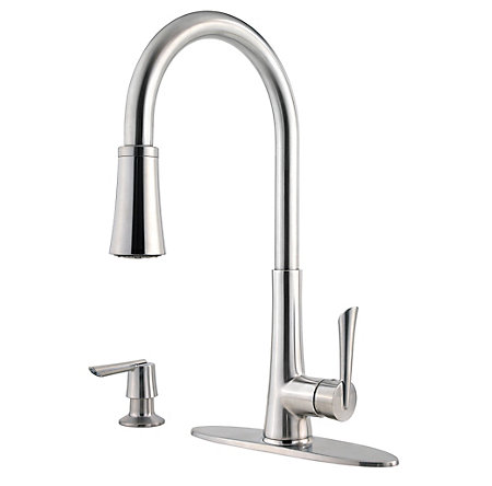 Stainless Steel Mystique 1-Handle, Pull-Down Kitchen Faucet - F-529-7MDS - 2