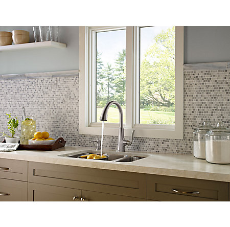 Stainless Steel Pasadena 1-Handle, Pull-Down Kitchen Faucet - F-529-7PDS - 5