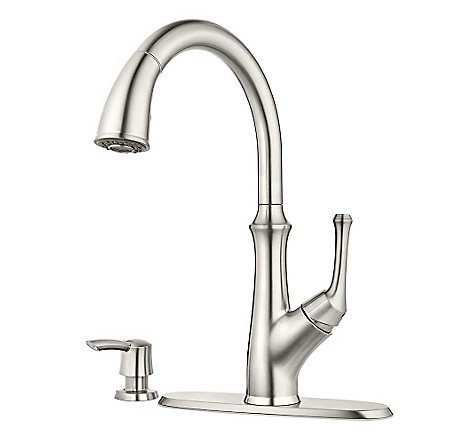 Stainless Steel Tamera Pulldown Kitchen Faucet - F-529-7TAS - 2