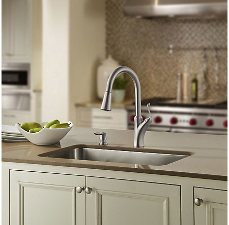 Stainless Steel Eagan Pulldown Kitchen Faucet - F-529-7TNS - 3