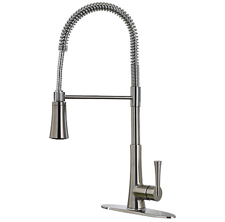 Stainless Steel Mystique 1-Handle Pull-Down Kitchen Faucet - F-529-9MDS - 1