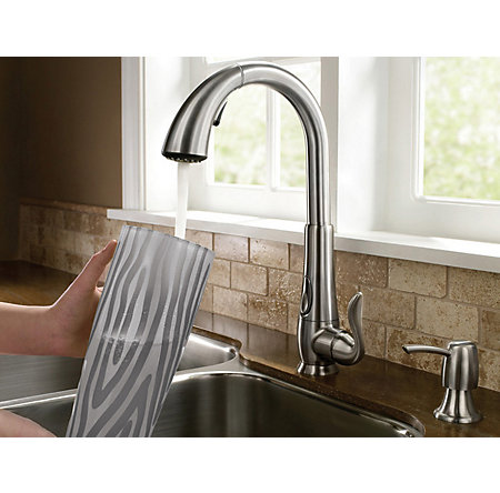Stainless Steel Elevate 1-Handle, Pull-Down Kitchen Faucet - F-529-ADRS - 6