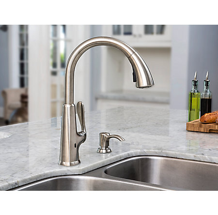 Stainless Steel Pasadena Touch-Free Pull-Down Kitchen Faucet with React™ - F-529-EPDS - 3