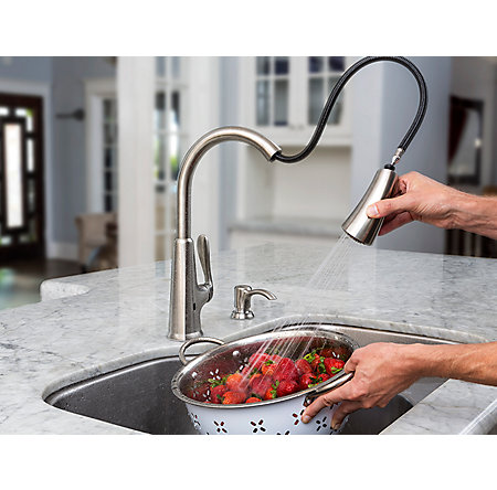 Stainless Steel Pasadena Touch-Free Pull-Down Kitchen Faucet with React™ - F-529-EPDS - 7