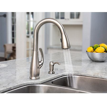 Stainless Steel Selia Touch-Free Pull-Down Kitchen Faucet with React™ - F-529-ESLS - 6