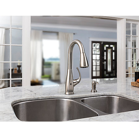 Stainless Steel Selia Touch-Free Pull-Down Kitchen Faucet with React™ - F-529-ESLS - 8
