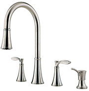 petaluma 2-handle, pull-down kitchen faucet