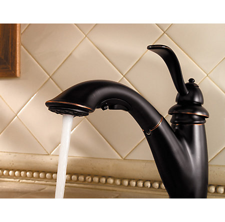 Tuscan Bronze Marielle 1-Handle, Pull-Out Kitchen Faucet - F-532-7PYY - 6