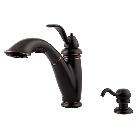 tuscan bronze marielle 1-handle, pull-out kitchen faucet - f-532-7pyy - 2