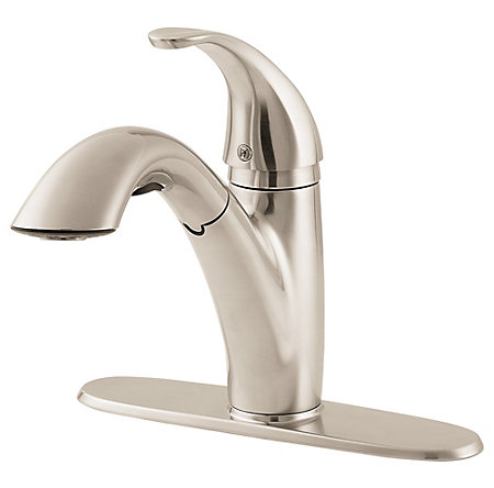 Stainless Steel Parisa 1-Handle, Pull-Out Kitchen Faucet - F-534-70SS - 2