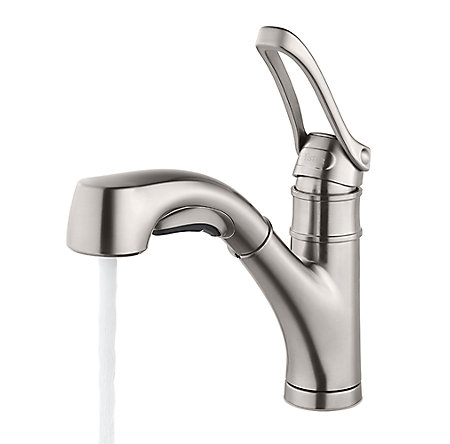 Stainless Steel Privé 1-Handle, Pull-Out Kitchen Faucet - F-534-7PVS - 2