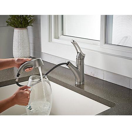 Slate Privé 1-Handle, Pull-Out Kitchen Faucet - F-534-7PVSL - 6
